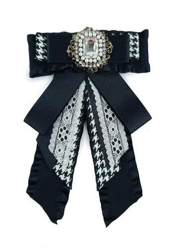 BELLE LIZ black Black Ribbon Gorgeous Ladies Brooch ED073AC5F41AF1GS_1