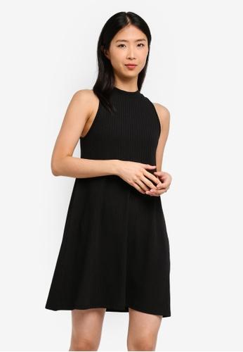 ZALORA BASICS black Basic Sleeveless Dress 6936EAA8E26F98GS_1