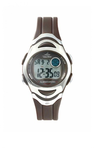 UniSilver TIME brown Men's Digital Rubber Watch 8E51CAC1DA700BGS_1