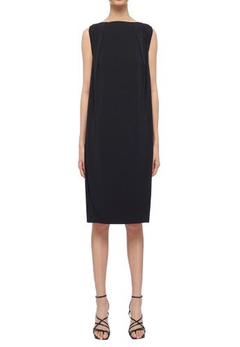 CK CALVIN KLEIN black Soft Matte Jersey Dress 8FCDFAA0CA4476GS_1