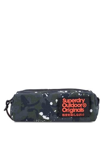 Superdry green and multi Squad Pencil Case 625D6AC6D11765GS 1 089a77517d9e4
