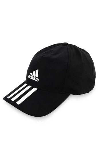 a302b3baeae7f adidas black and white Adidas C40 6Panel 3Stripes Climalite Cap  D0799AC4EA2708GS 1