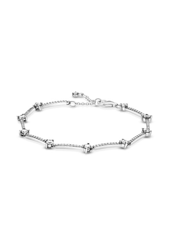 Pandora silver Pandora Sparkling Pavé Bars Bracelet 6C0E3AC0232C9AGS_1