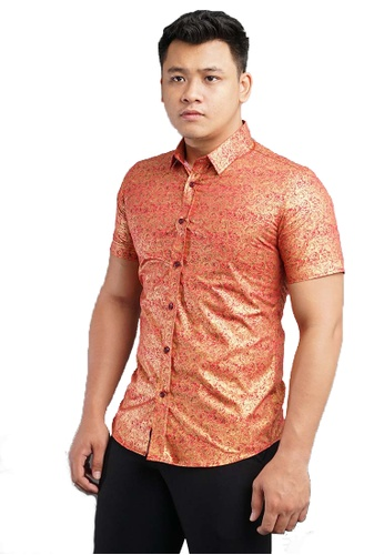 UA BOUTIQUE red Short Sleeve Shirt Batik SSB124-051 (Red) 876A8AA206CAB3GS_1