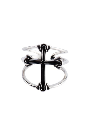 A-Excellence silver Premium S925 Sliver Geometric Ring 62942AC286C97BGS_1