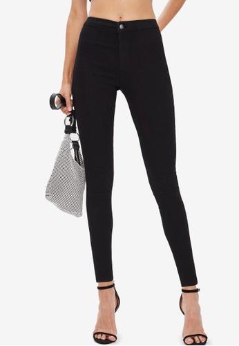 TOPSHOP black PETITE Black Holding Power Joni Skinny Jeans 561CBAA1E5B21DGS_1