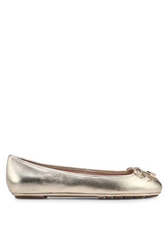 Dune London gold Harland Mocc Ballerinas 48335SH45B5E9DGS_1