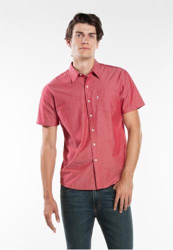 Levi's red Levi's Short Sleeve Classic One Pocket Shirt 6911DAA0FE876BGS_1