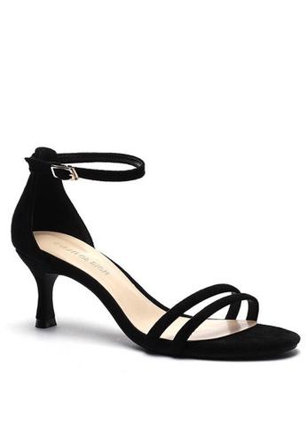 Twenty Eight Shoes 黑色 繞踝帶幼踭涼鞋366-2 3227CSHAE32877GS_1