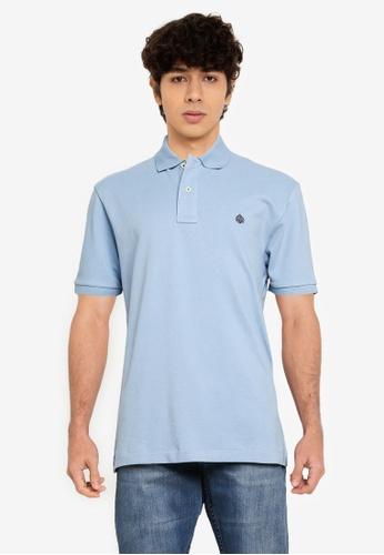 Springfield blue Essential Pique Polo Shirt DD89CAA1BDC826GS_1