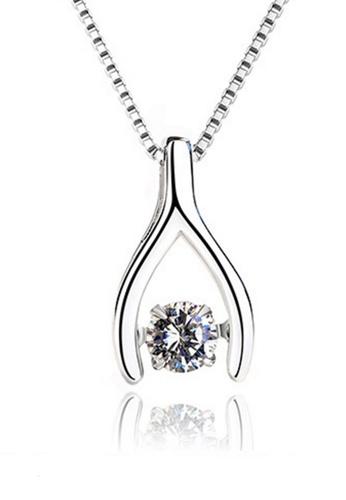 LYCKA silver LPP88041 S925 Silver Necklace 86F3AAC81FB98CGS_1