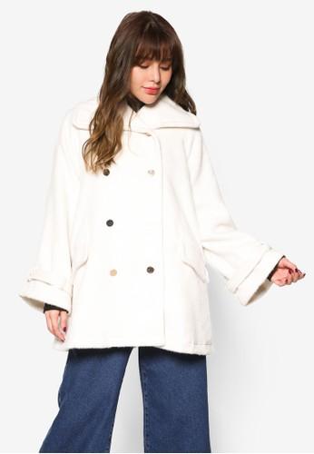 雙排鈕寬版esprit outlet 家樂福長版外套, 服飾, 外套
