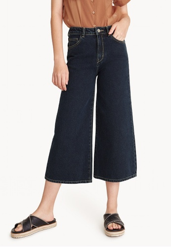 Pomelo navy Culotte Dark Denim Jeans - Navy 97171AA78EBBCBGS_1