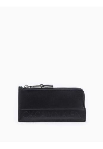Calvin Klein black Logo L-Zip Cardcase BD8F3ACFD8C628GS_1