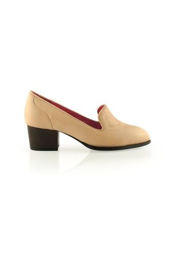 Gripz beige Slipon Loafer block heels GR357SH07IQYSG_1