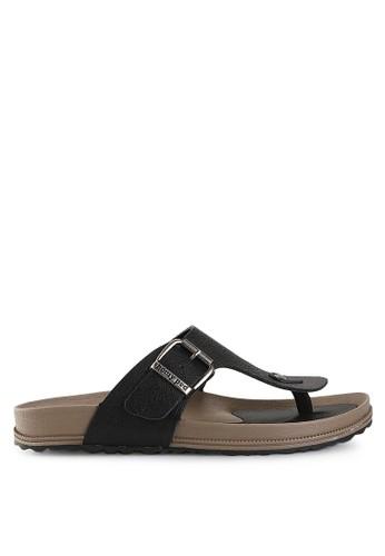 Homyped black Navara 806 Leather Men Sandals HO842SH13PWWID_1