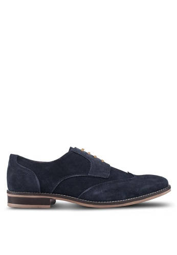 Acuto blue Leather Derby Shoes AEBC1SH8812654GS_1