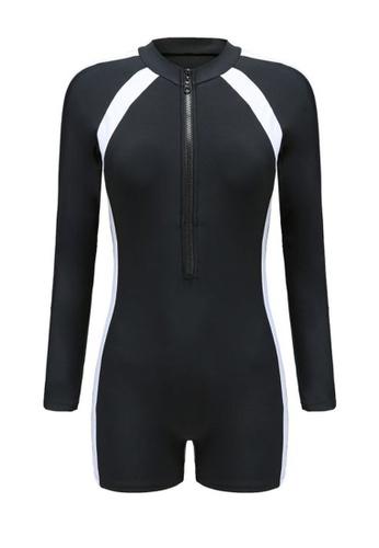 Twenty Eight Shoes black VANSA Long Sleeves Diving Swimsuit  VCW-Sw2208L 67A9CUSFF1F473GS_1