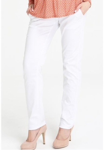 Bove by Spring Maternity white Woven Pants Reg Str Fine Twill White B774AAA8D711AAGS_1