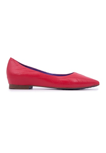 Flatss & Heelss by Rad Russel red Classic Pointy Flats - Red 102C2SHCF9CB06GS_1