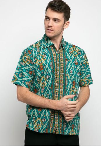 Adikusuma green Hem Batik Tenun Arsir 373BFAA6197874GS_1