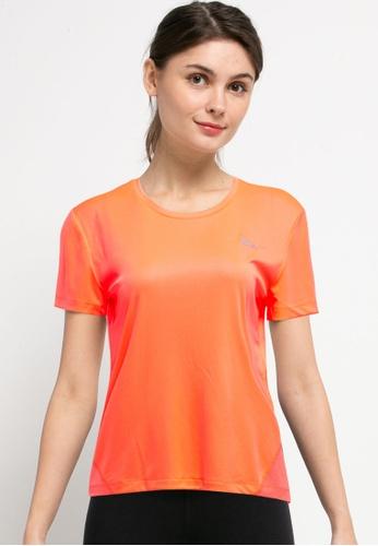 Nike orange Women's Miler Short Sleeve Top 1D737AA8EE1C14GS_1