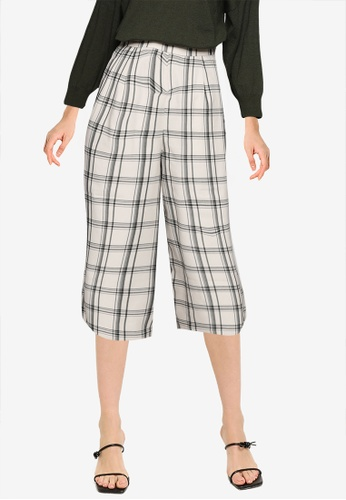 LOWRYS FARM white Casual Cropped Woven Pants 5B781AA514DC63GS_1