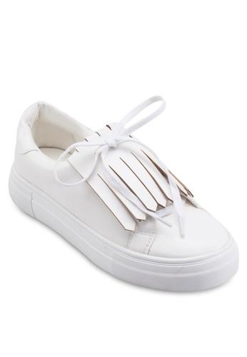 Fringed Slip On Plimsolls, 女鞋, zalora 心得鞋