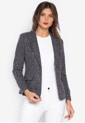 Well Suited black Fleck Texture Blazer D5EA1AA62E295AGS_1