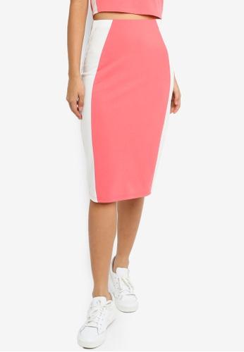 Something Borrowed 粉紅色 側滾邊緊身裙 A4D8EAA105FCC3GS_1