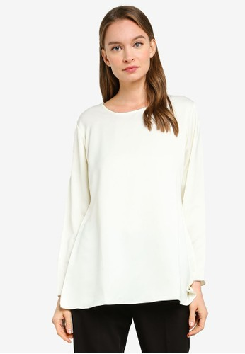 Aqeela Muslimah Wear white Basic Blouse B423BAAE1CFB16GS_1