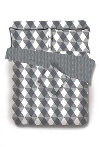 Primeo grey Premium 220TC Full Comforter Set, Gray Comforter, Fitted Sheet, Pillow Case Set of 4 94B80HLEADA95FGS_1