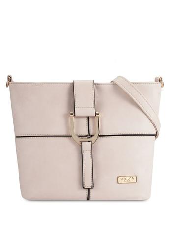 Unisa beige Faux Leather Sling Bag UN821AC0R9RTMY_1