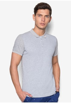 Polo Shirt with Printed Sleeves