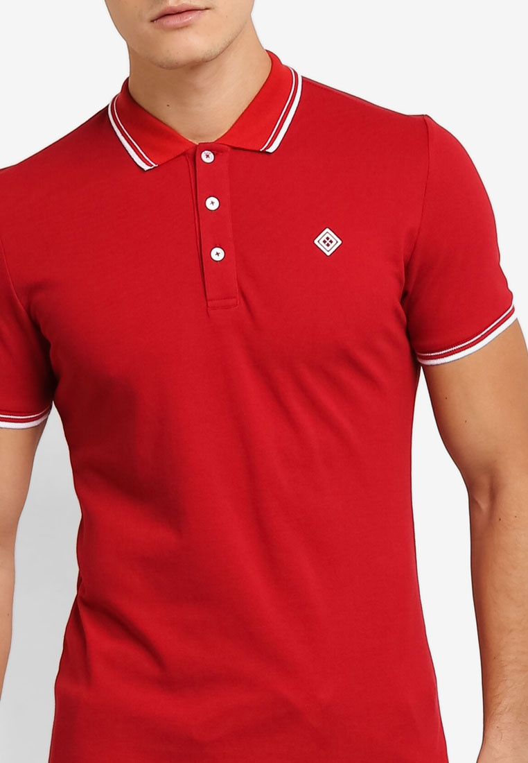JAXON Red Logo Shirt Polo Tipping OqAtwZwB