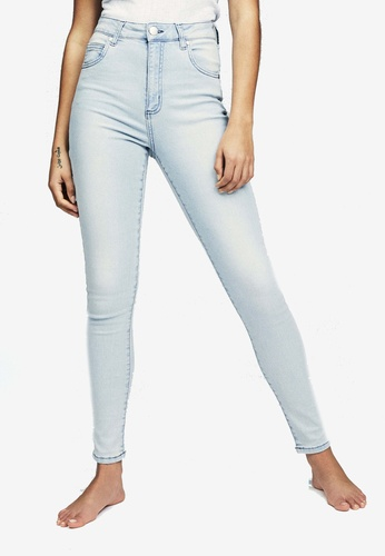 Cotton On blue High Skinny Jeans 74A2FAA9C9E46DGS_1