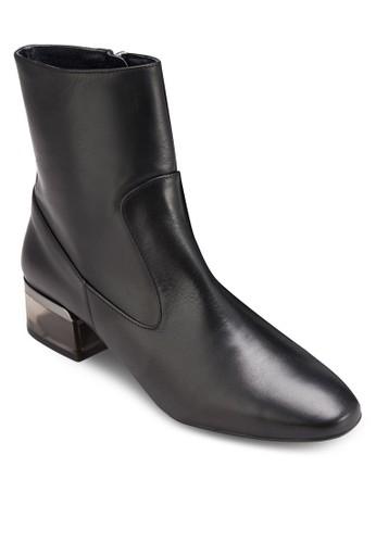 Aubergine 有機玻璃低跟短靴, 女鞋esprit investor relations, 鞋