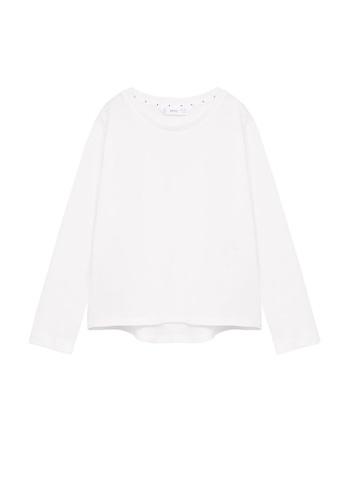 MANGO KIDS white Organic Cotton Essential T-Shirt E1044KA1DE0831GS_1