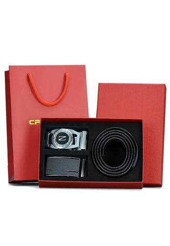 Jackbox black Set of 2 Belt Head Cryitee Premium Leather Automatic Design Buckle Men's Belt 810-16 8AC09ACD5A859AGS_1