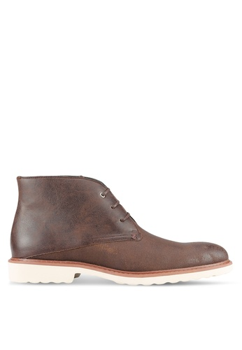 ZALORA brown Essential Faux Leather Boots D246AAA9D7FEFEGS_1
