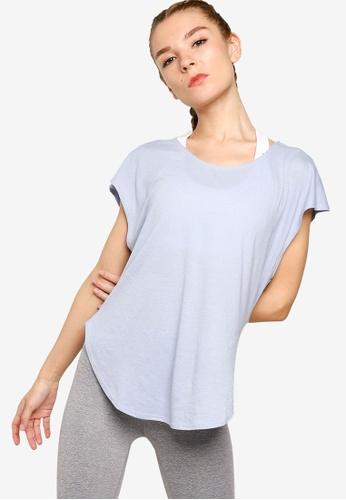 Cotton On Body blue Active Scoop Hem T-Shirt 8BB4FAACE3C218GS_1