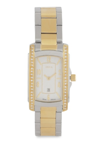 ZECA gold Zeca Watches Ladies Fashion Stainless Steel Analog - 1008LA Gold 5016AAC2B99D25GS_1