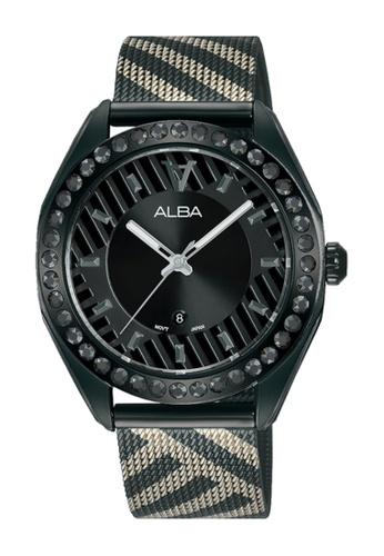 ALBA PHILIPPINES black Black Dial Black Stainless Steel Strap AH7W69 Quartz Watch 3C2D3AC1EA63C8GS_1