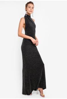 b7016f7a5487 41% OFF Goddiva Black Gathered Metallic Dress S$ 112.90 NOW S$ 66.90 Sizes  8 10 12
