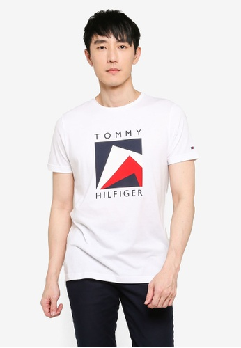 Tommy Hilfiger white Corp Apex Tee 7B74DAAF39CE3BGS_1