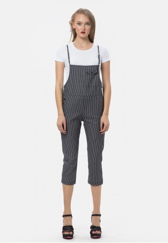 67181e400bb MKY Clothing black Candy Stripe Overall Jumpsuit 4868CAA88035F5GS 1