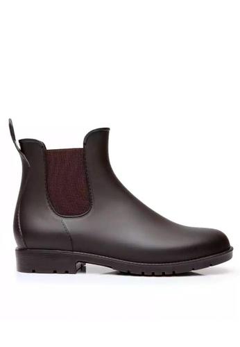 Twenty Eight Shoes brown Men's Riding Rain Boots MC102 722EASHC5814B7GS_1