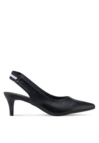 Rubi 黑色 Athens Slingback Kitten Heels 1413FSH214FB3EGS_1