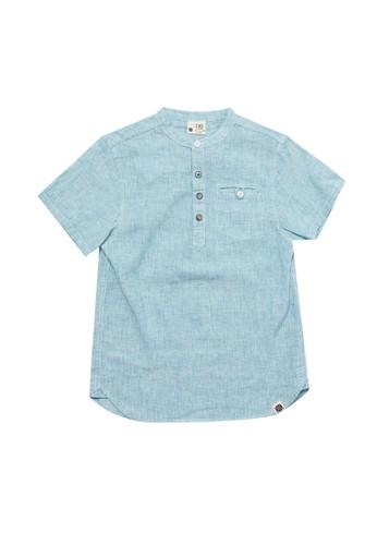 Giordano green Junior Pocket Linen Shirt F9901KA22C218AGS_1