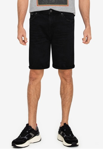 Springfield black Washed Black Lightweight Denim Shorts 010A1AA72A8455GS_1